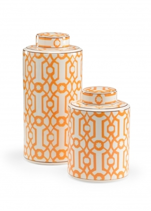 Thumbnail of WILDWOOD LAMP COMPANY - Orange Canisters, Set/2