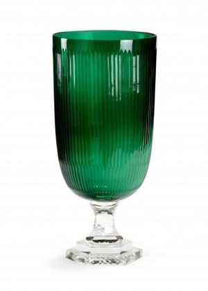 Thumbnail of Wildwood Lamp - Cut Glass Hurricane, Emerald