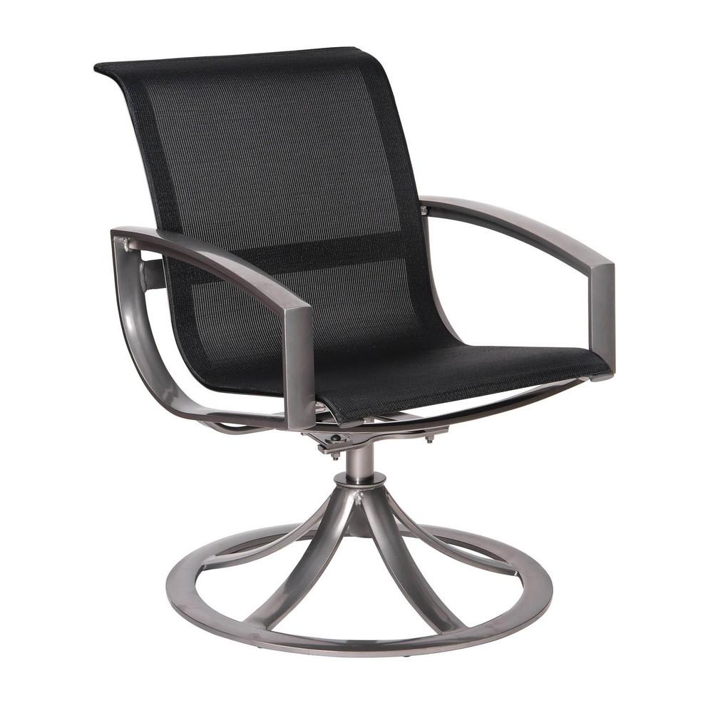 Woodard Company - Sling Swivel Dining Arm Chair