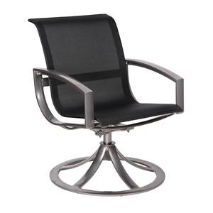 Thumbnail of Woodard Company - Sling Swivel Dining Arm Chair