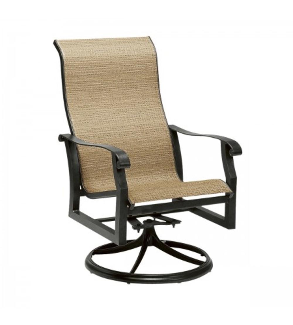 Woodard Company - High Back Swivel Rocker Dining Arm Chair