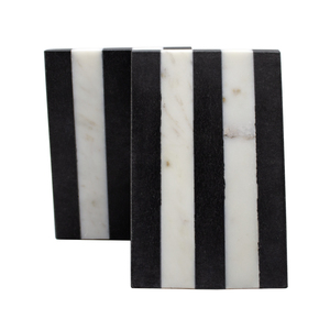 Thumbnail of Worlds Away - Pair Of Black And White Marble Bookends