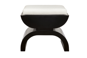 Thumbnail of Worlds Away - Black Lacquer Base with White Linen Seat