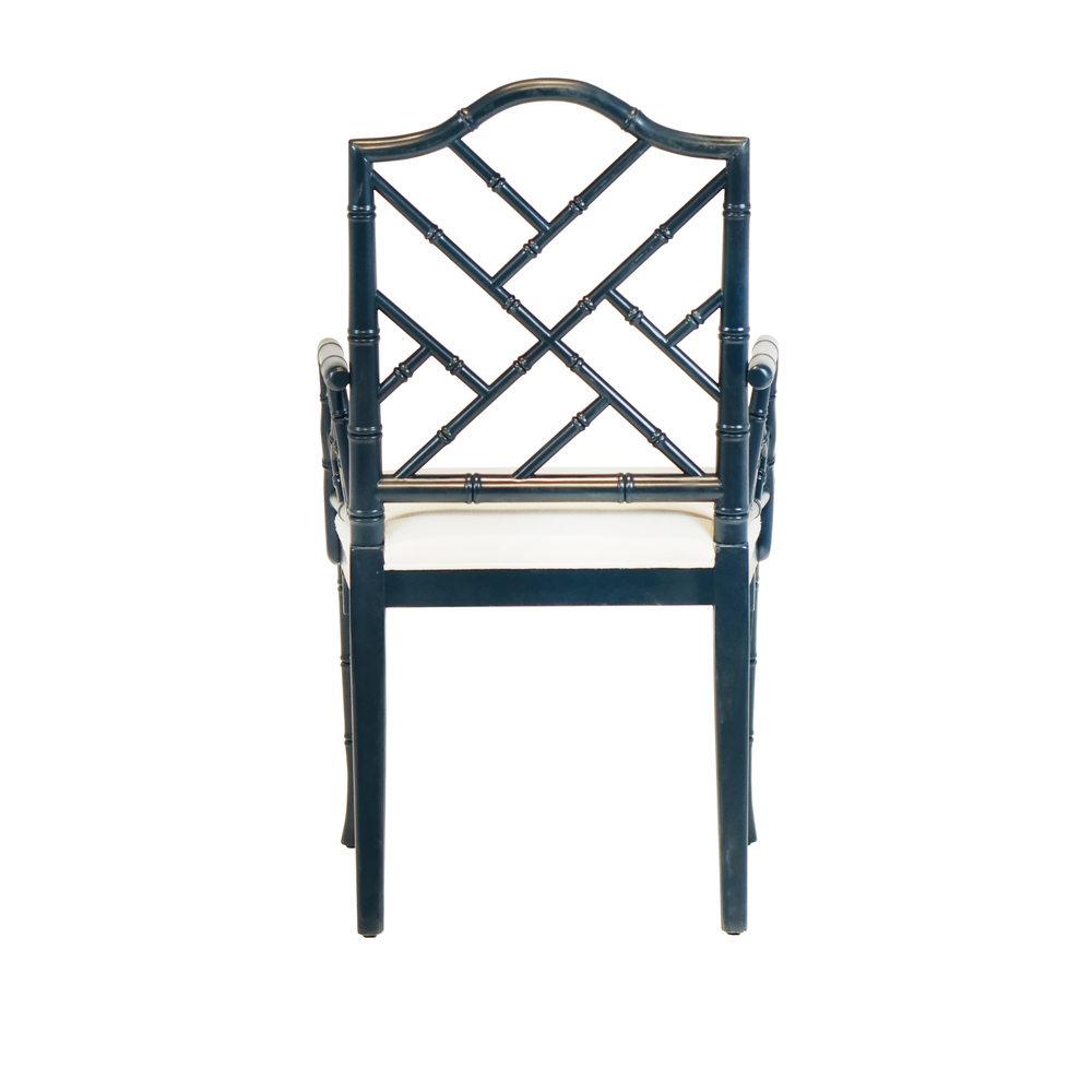 Worlds Away - Chippendale Style Bamboo Dining Armchair