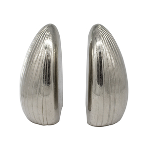 Thumbnail of Worlds Away - Pair Of Hand Textured Antique Nickel Bookends