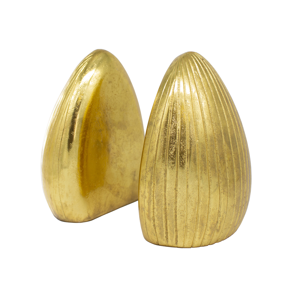 Worlds Away - Pair Of Hand Textured Antique Brass Bookends