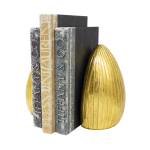 Thumbnail of Worlds Away - Pair Of Hand Textured Antique Brass Bookends