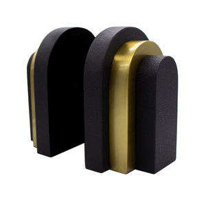 Thumbnail of Worlds Away - Pair Of Antique Brass And Black Shagreen Bookends