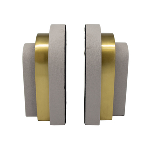 Thumbnail of Worlds Away - Pair Of Antique Brass And Grey Shagreen Bookends