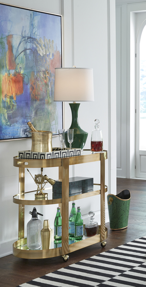 Thumbnail of Worlds Away - Three Tier Bar Cart with
