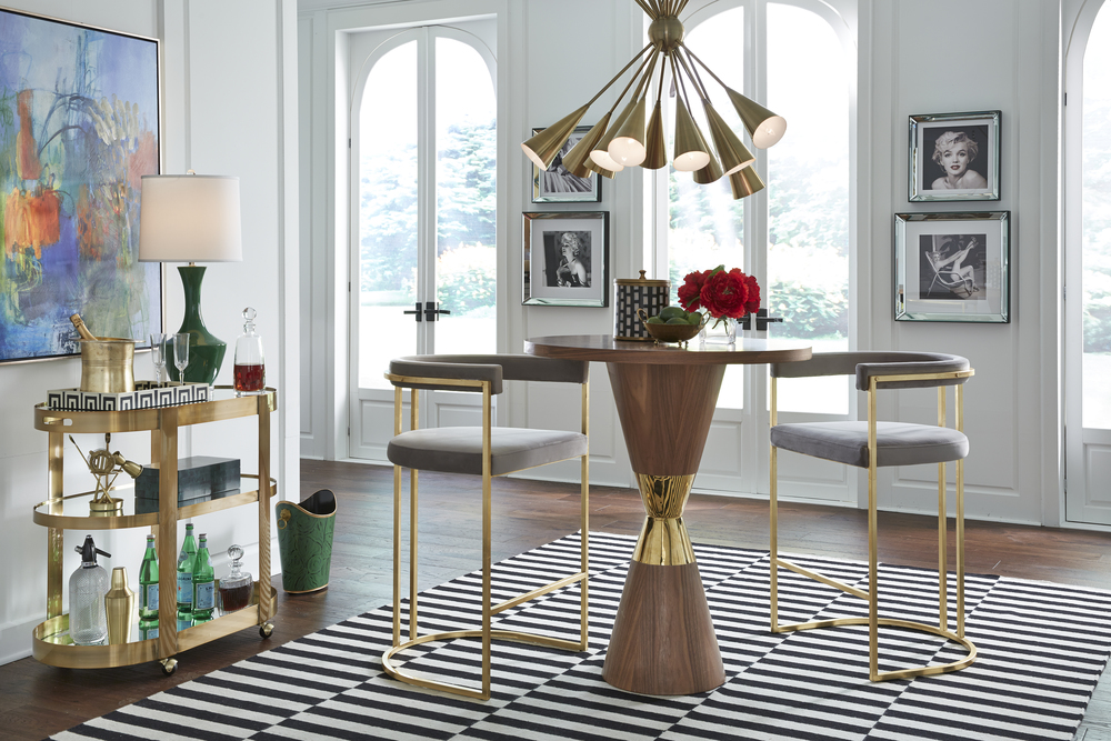Worlds Away - Three Tier Bar Cart with
