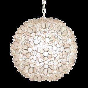 Thumbnail of Worlds Away - Capiz Ball Floral Pendant