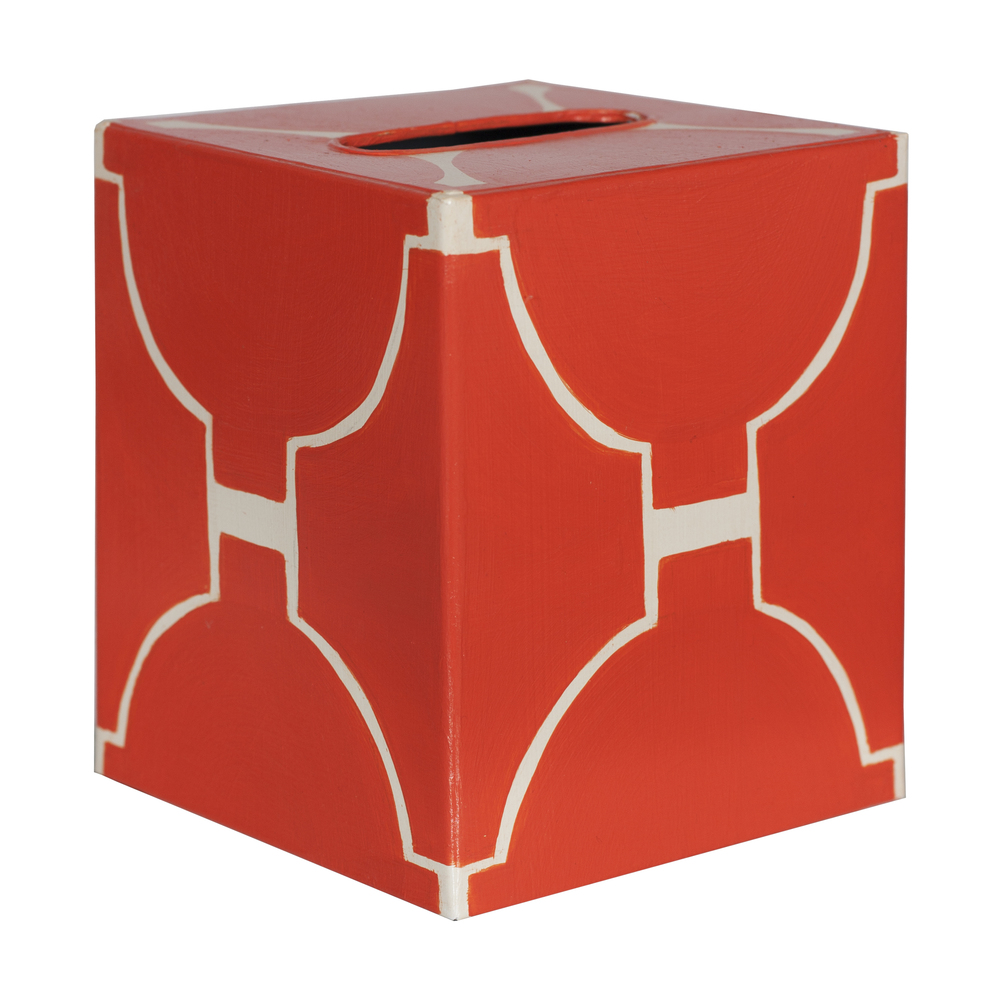 Worlds Away - Kleenex Box, Orange and Cream