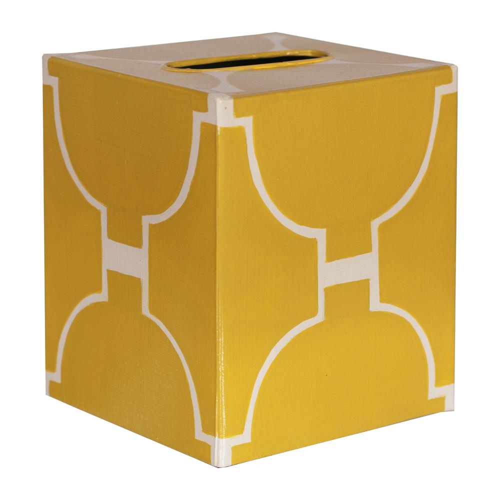 Worlds Away - Kleenex Box, Yellow and Cream