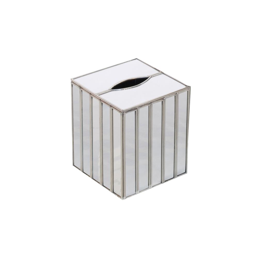 Worlds Away - Mirror Faceted Kleenex Box