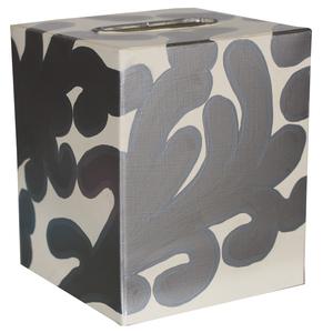 Thumbnail of Worlds Away - Kleenex Box, Silver and Cream