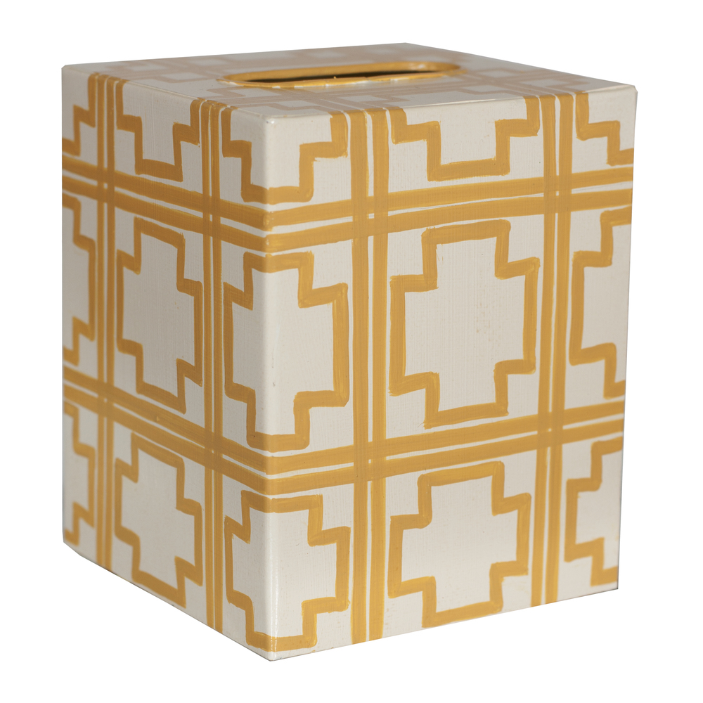 Worlds Away - Kleenex Box, Yellow Squares