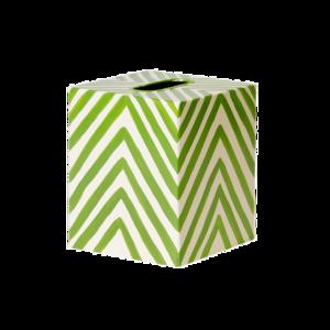 Thumbnail of Worlds Away - Kleenex Box, Cream and Green Zebra