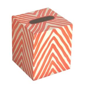 Thumbnail of Worlds Away - Kleenex Box, Cream and Orange Zebra