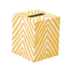 Thumbnail of Worlds Away - Tissue Box, Zebra Print, Yellow