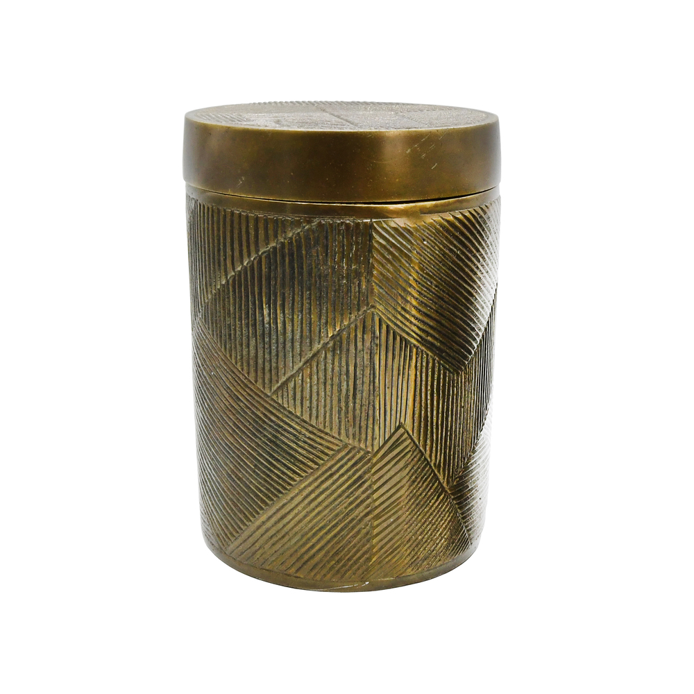 Worlds Away - Large Hand Crafted Decorative Canister