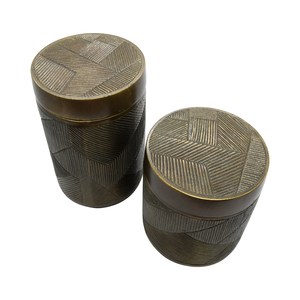 Thumbnail of Worlds Away - Large Hand Crafted Decorative Canister