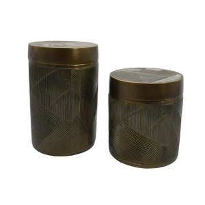 Thumbnail of Worlds Away - Small Hand Crafted Decorative Canister