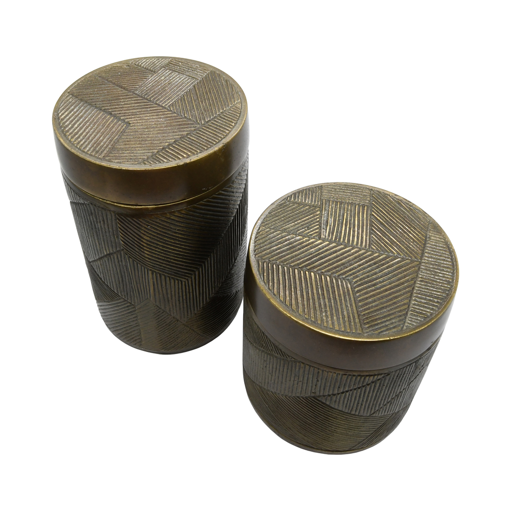 Worlds Away - Small Hand Crafted Decorative Canister