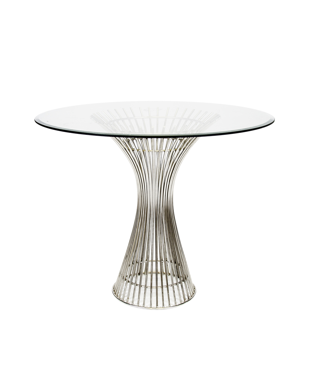 Worlds Away - Polished Stainless Steel Side Table