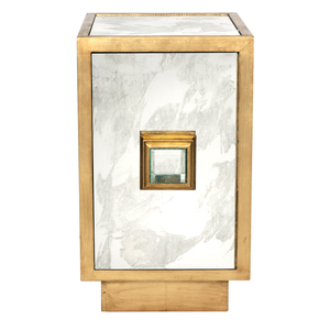 Thumbnail of Worlds Away - Antique Mirror Gold Leafed Side Table