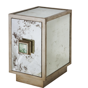 Thumbnail of Worlds Away - Antiqued Mirror Side Table Silver Leafed