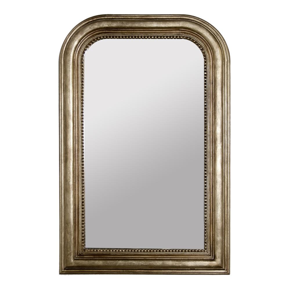 Worlds Away - Silver Leaf Wood Mirror