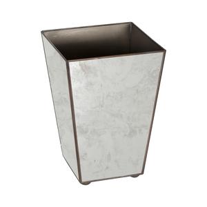 Thumbnail of Worlds Away - Wastebasket Antique Mirror Plain