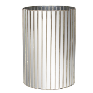 Thumbnail of Worlds Away - Faceted Antique Mirror Wastebasket