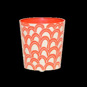 Thumbnail of Worlds Away - Orange and Cream Wastebasket