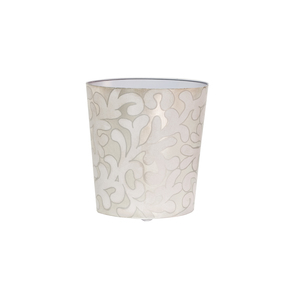 Thumbnail of Worlds Away - Oval Wastebasket Lavender and Silver
