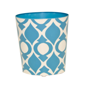 Thumbnail of Worlds Away - Blue and Cream Wastebasket