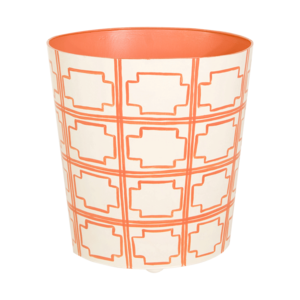 Thumbnail of Worlds Away - Orange and Cream Wastebasket
