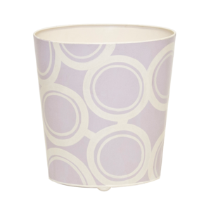 Thumbnail of Worlds Away - Lavender and Cream Wastebasket