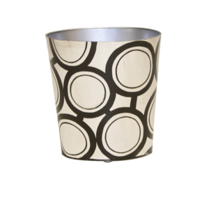Thumbnail of Worlds Away - Black and Silver Wastebasket