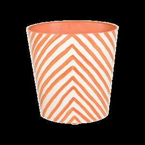 Thumbnail of Worlds Away - Wastebasket in Orange Zebra Print