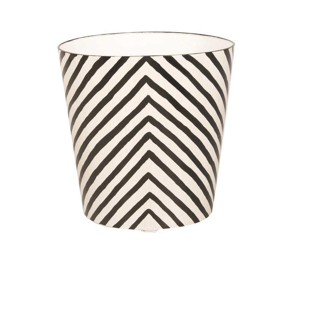Worlds Away - Oval Wastebasket Zebra