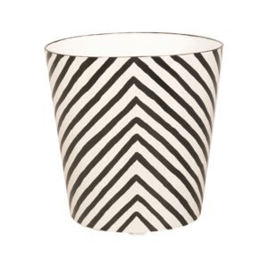 Thumbnail of Worlds Away - Oval Wastebasket Zebra