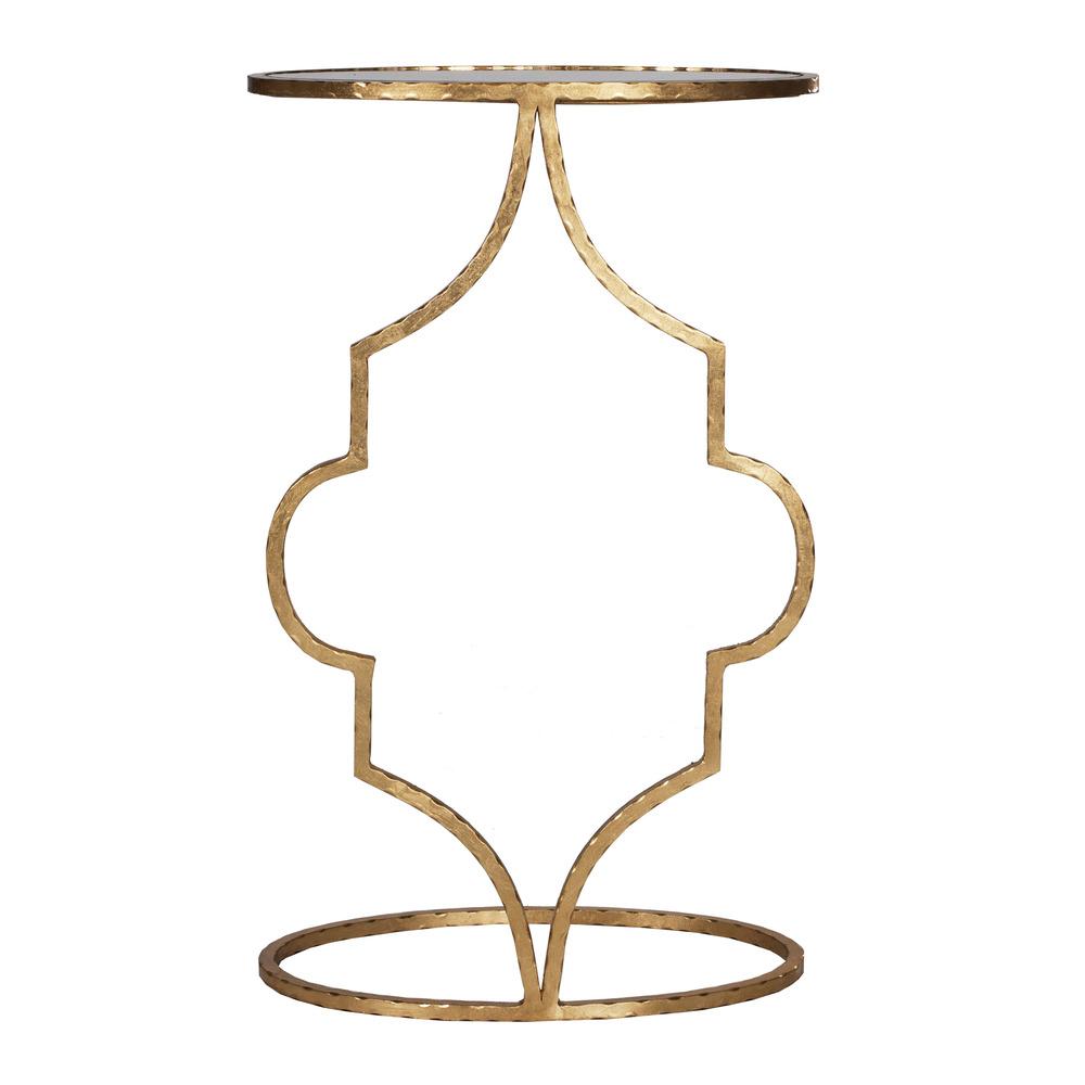 Worlds Away - Hammered Gold Leaf Cigar Table