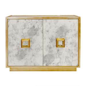 Thumbnail of Worlds Away - Antique Mirror Two Drawer Chest in Gold Leaf