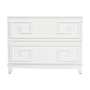 Thumbnail of Worlds Away - Oriental Two Drawer Chest in White Lacquer