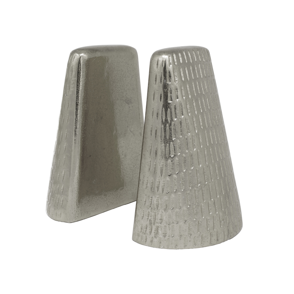 Worlds Away - Pair Of Hammered Antique Nickel Bookends