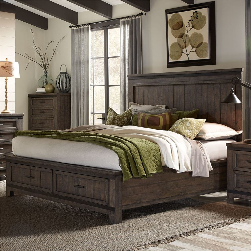 Liberty Furniture - Thornwood Hills Storage Bed