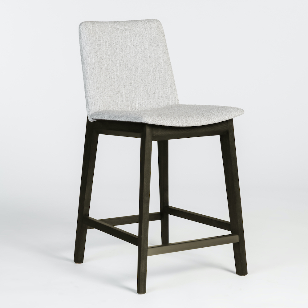 Alder & Tweed Furniture - Clifton Counter Stool in Misted Silver and Moderna Brown