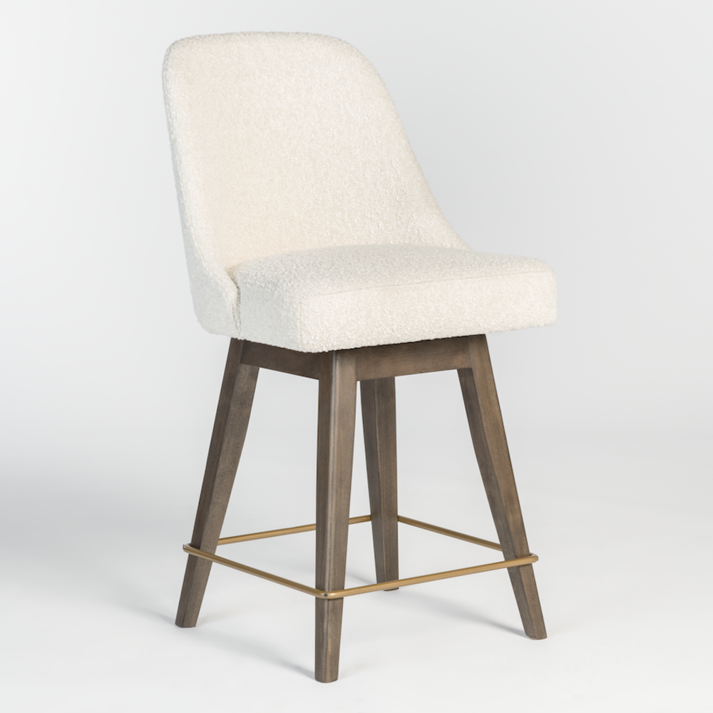Alder & Tweed Furniture - Jackie Counter Stool in Warm Cotton and Moderna Brown